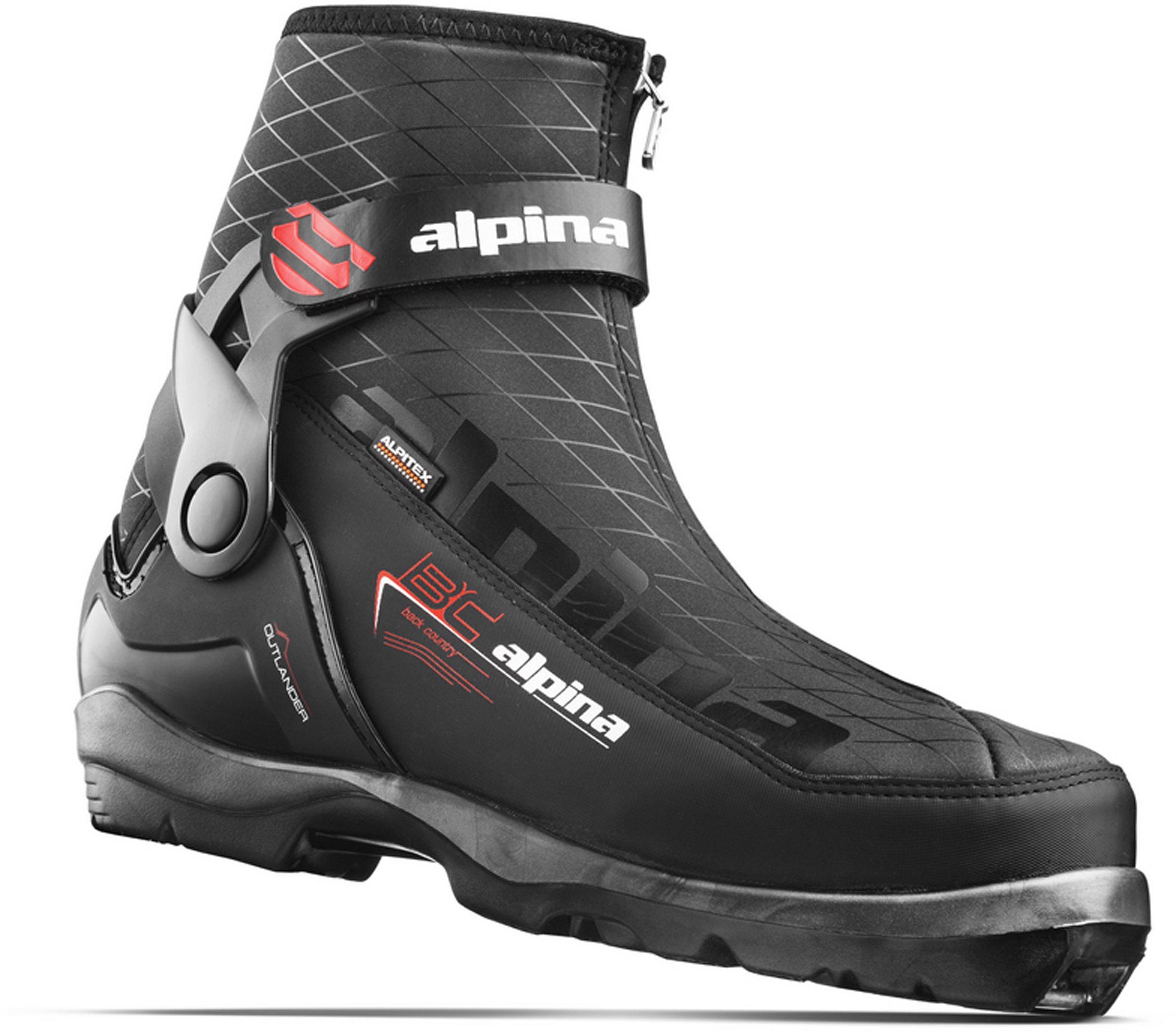 Alpina Sports Outlander Backcountry Ski Boots, Black/Orange/White, Euro 42