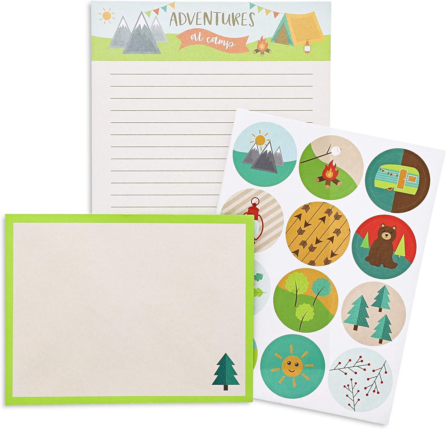 Camp notes Summer Camp Stationery, Kids notes to home 20ct Note cards /& Envelopes Kids Camp note cards Printed PERSONALIZED Stationery