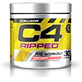 Cellucor C4 Ripped Pre Workout Powder + Fat Burner, Fat Burners for Men & Women,  Weight Loss & Energy, Cherry Limeade, 30 Servings