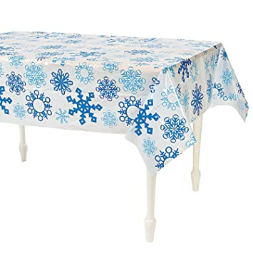Snowflake Holiday Tablecloth