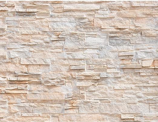 Fototapete Steinwand 3D Effekt Vlies Wand Tapete Wohnzimmer Schlafzimmer  Büro Flur Dekoration Wandbilder XXL Moderne Wanddeko 100% MADE IN GERMANY  ...