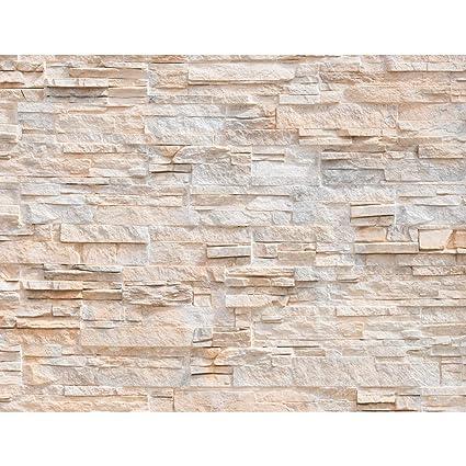 Fototapeten Steinwand 3D Effekt 352 x 250 cm Vlies Wand Tapete Wohnzimmer  Schlafzimmer Büro Flur Dekoration Wandbilder XXL Moderne Wanddeko 100% MADE  ...