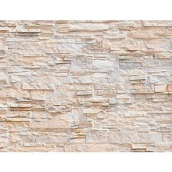 Fototapete Steinwand 3D Effekt 396 X 280 Cm Vlies Wand Tapete Wohnzimmer  Schlafzimmer Büro Flur Dekoration