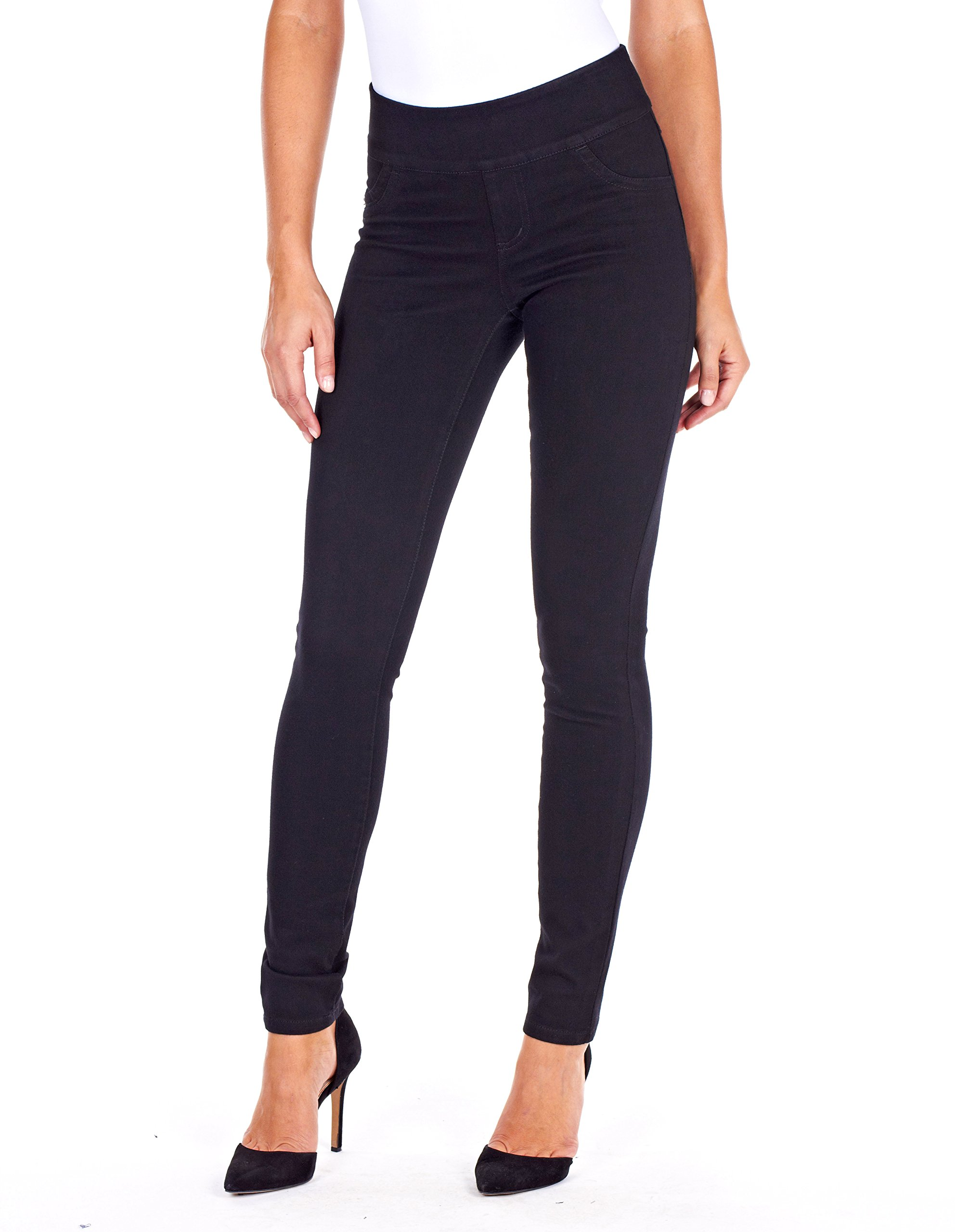 FDJ Women's LOVE Premium Denim - Slim Jegging Jeans (Black,12)