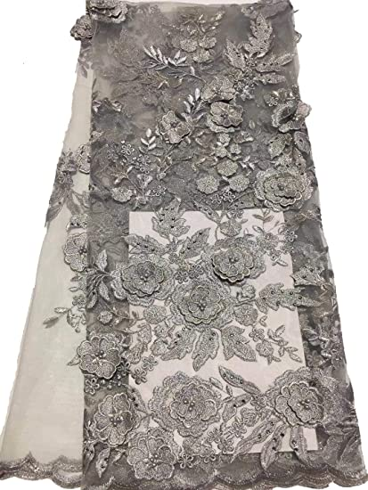 65c9732b7924e Amazon.com: Highest 2019 African Lace Fabrics 5 Yards Nigerian ...