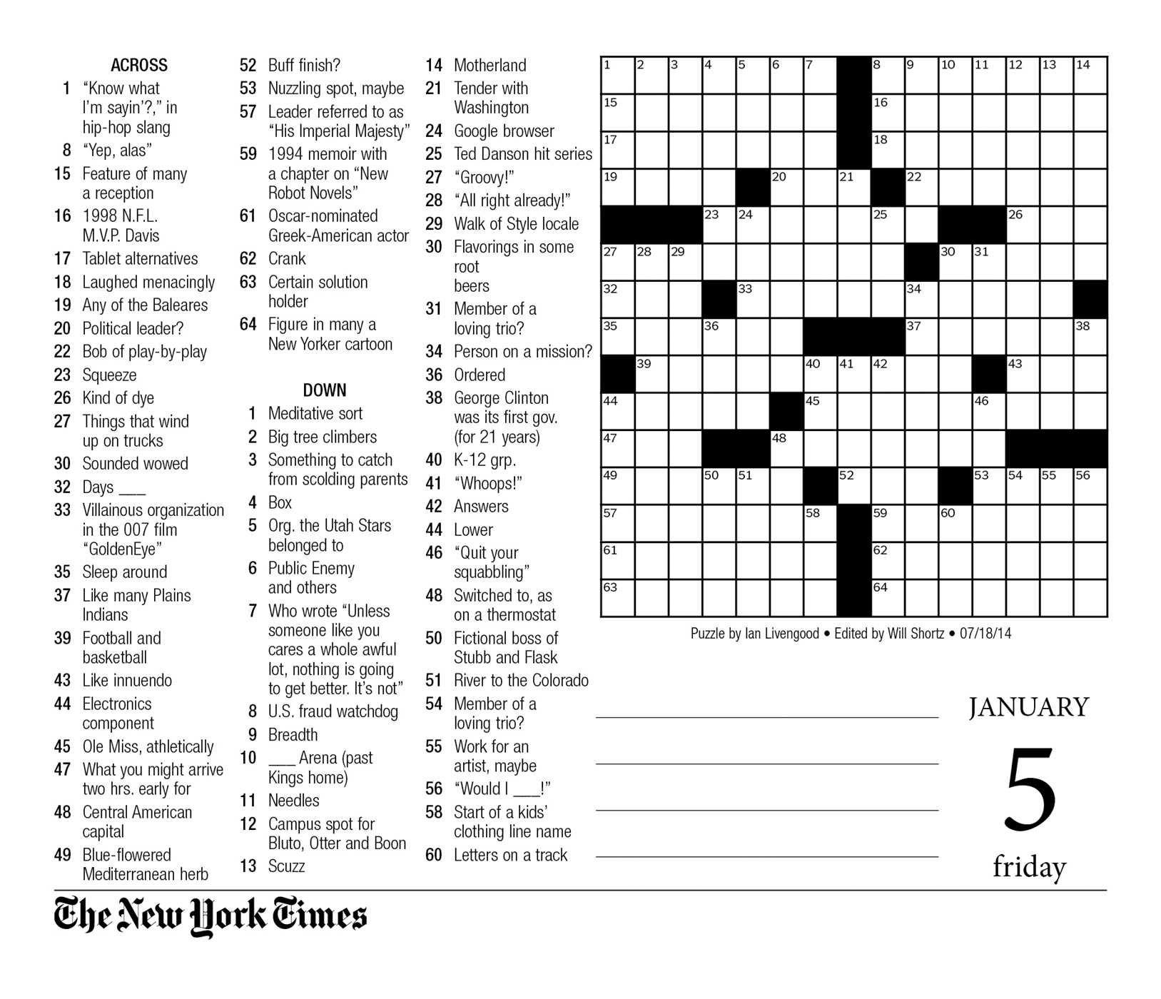 The New York Times Crosswords 2018 Day To Day Calendar The New York