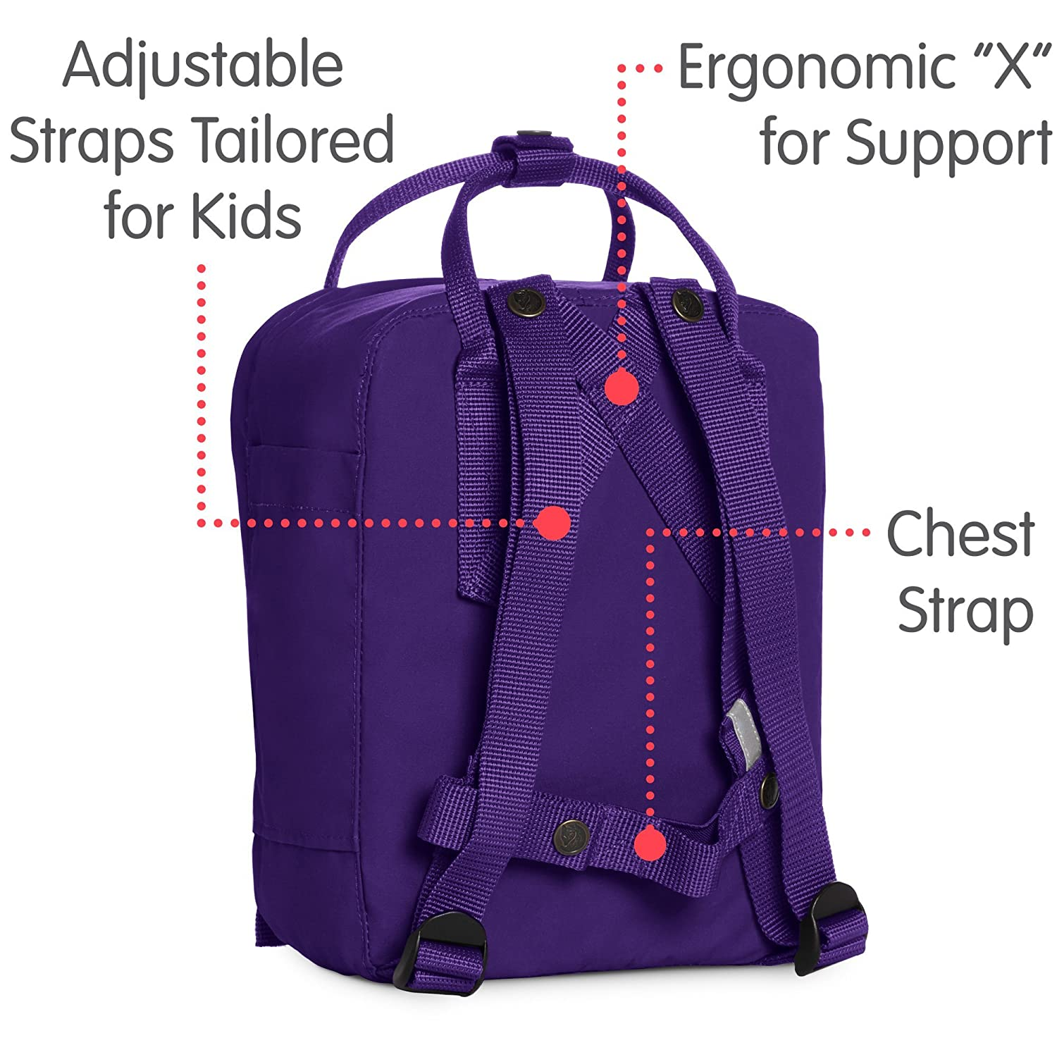 Amazon.com  Fjallraven - Kanken Kids Backpack for School and Everyday Use b391bd05247a5