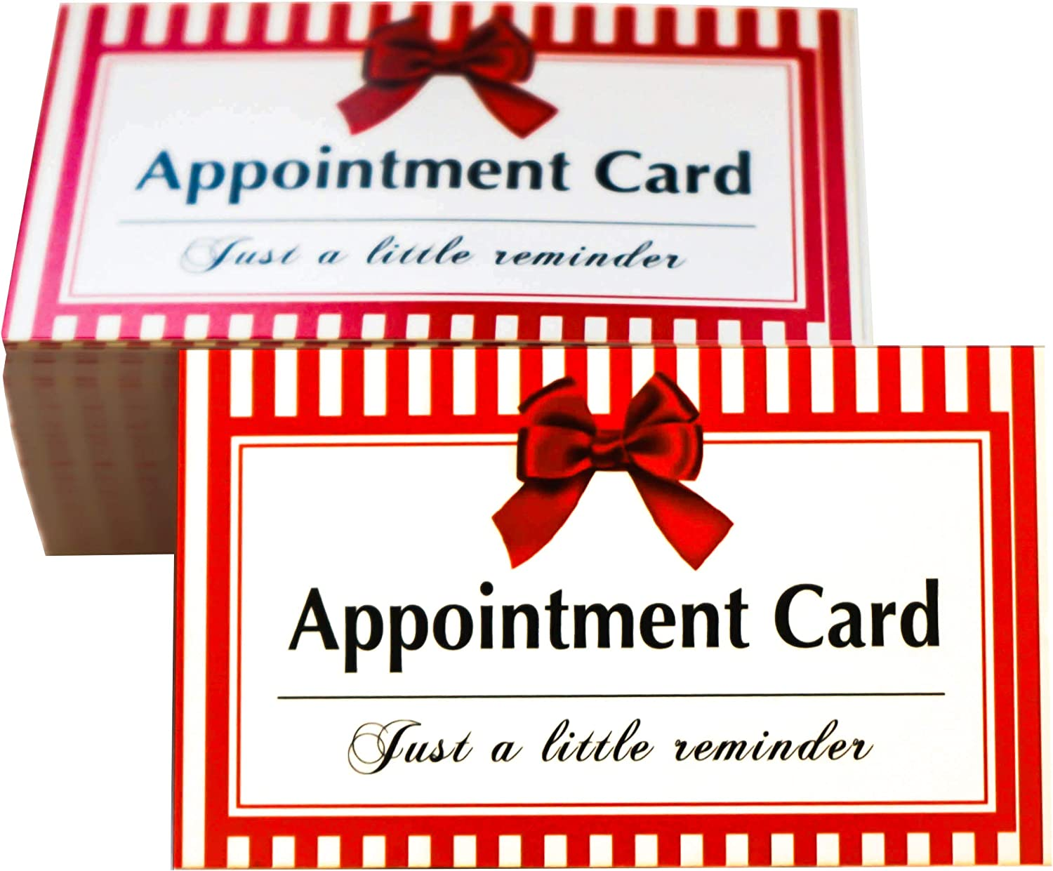 RXBC2011 Appointment Reminder Cards Bowknot Pack of 100