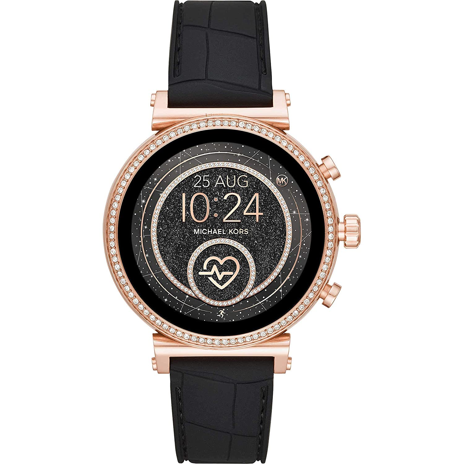 Michael Kors Access Sofie Montre au Poignet Connectée Digital avec Bracelet en Cuir MKT5069: Amazon.fr: High-tech