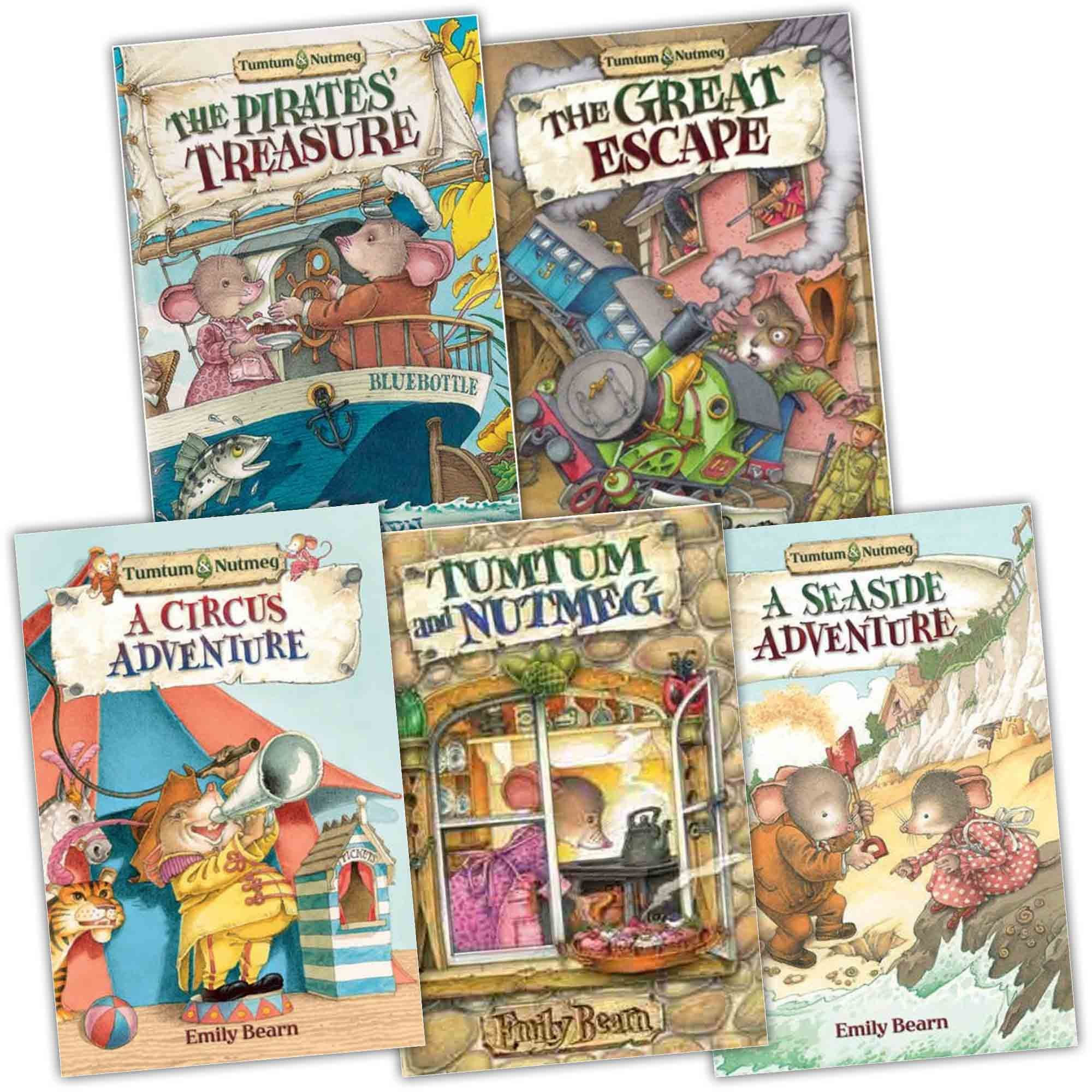 Tumtum and Nutmeg Collection 7 books set Emily Bearn Series Pack (A  Christmas Adventure, the First Adventure, the Great Escape, the Pirates'  Treasure, ...