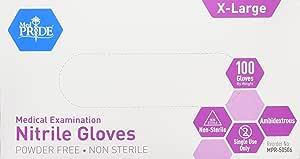 MedPride Powder-Free Nitrile Exam Gloves, X-Large, Box/100
