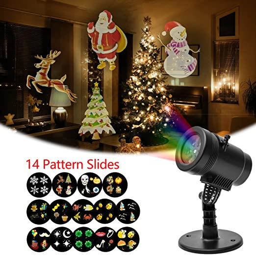LED Projector Light Christmas Decoration Moving LED Landsacpe Light ...
