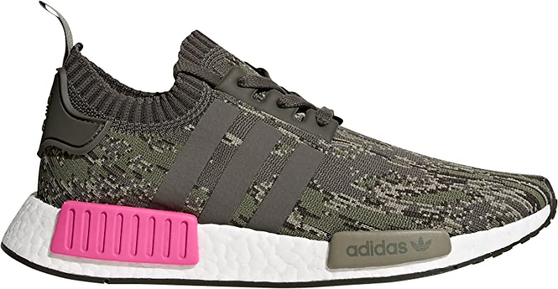 adidas NMD Sneakers Laufschuhe Herren Utility Grau/Rosa (Utility Grey, Shock Pink)