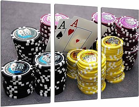 Cuadro Fotográfico Juego Mesa, Casino, Cartas y Fichas Poker, As ...
