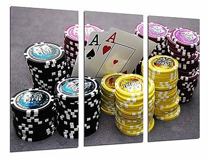 Cuadro Fotográfico Juego Mesa, Casino, Cartas y Fichas Poker ...