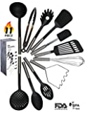 Kitchen Utensil Set - 11 Kitchen Gadgets & Cooking Utensils. Stainless Steel Kitchen Utensils for Nonstick Cookware. Spatula Set, kitchen tongs, potato masher set, Apartment Essentials Gifts - ÉLEVER