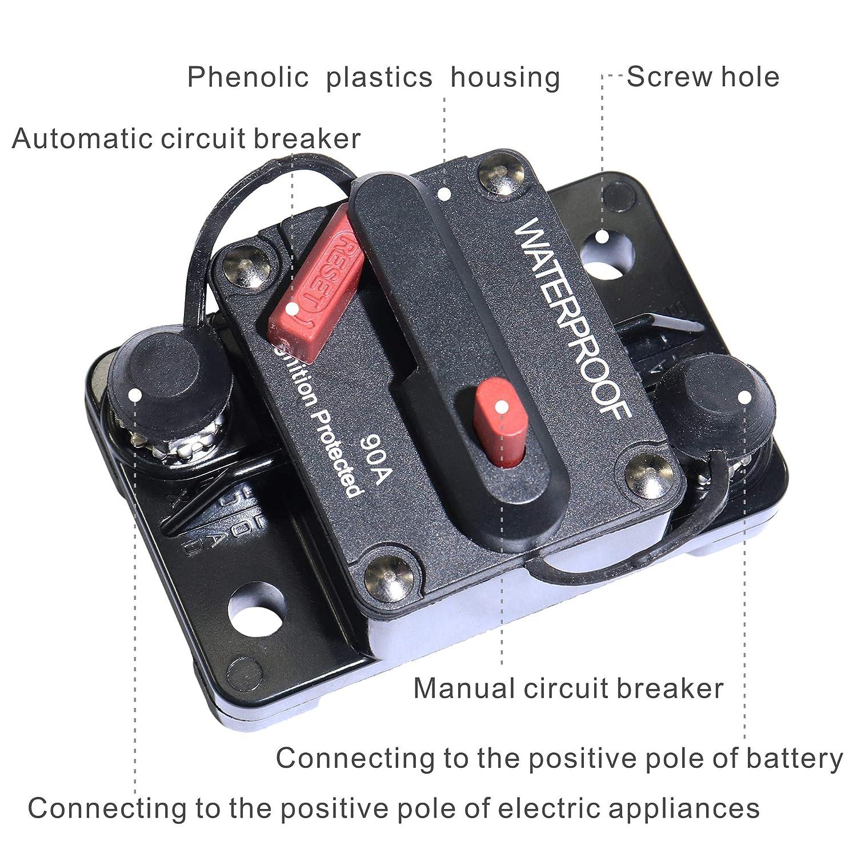 IZTOSS 200 Amp Circuit Breaker with Manual Reset Switches & Relays ...
