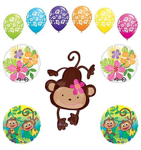 Amazon Com Mod Monkey Party Supplies Birthday Or Baby Shower Girl