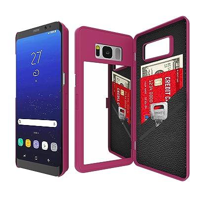 Samsung Galaxy S8/S8 Plus Espejo Funda con cartera para mujer ...