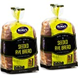 Rye Bread with Seeds -2 Pack-16 oz Per Loaf |Delicious Sandwich Bread |Kosher Bread| Fresh Bread | Dairy