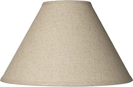Fine Burlap Empire Shade 6x17x11 5 Spider Brentwood Lampshades
