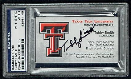 Tubby Smith Signed Autograph Business Card Texas Tech Basketball