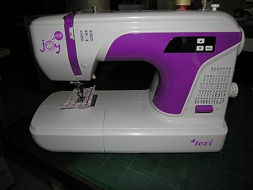 texi Máquina de coser Joy 48 con brazo libre, luz LED, metal garra ...