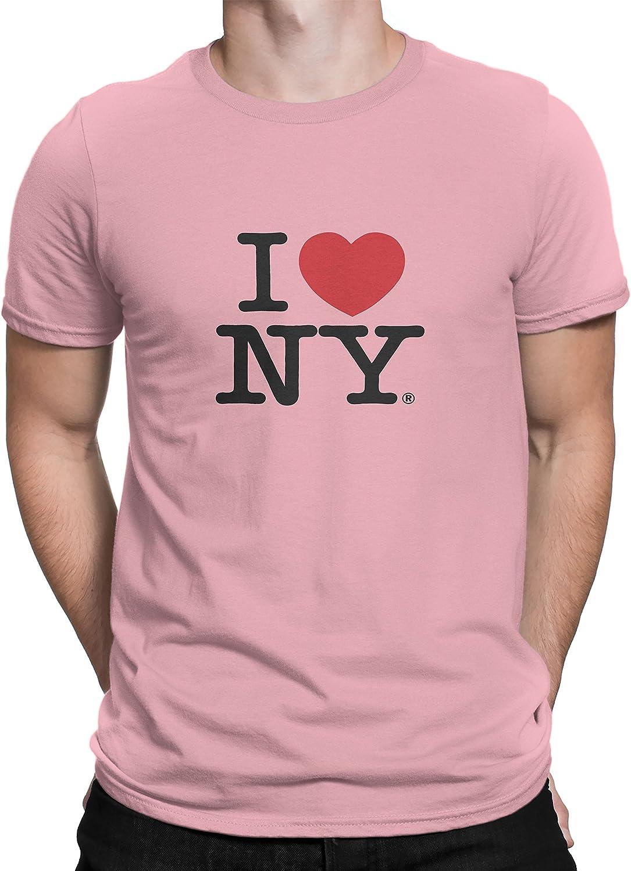 I Love NY New York Short Sleeve Screen Print Heart T-Shirt Orange