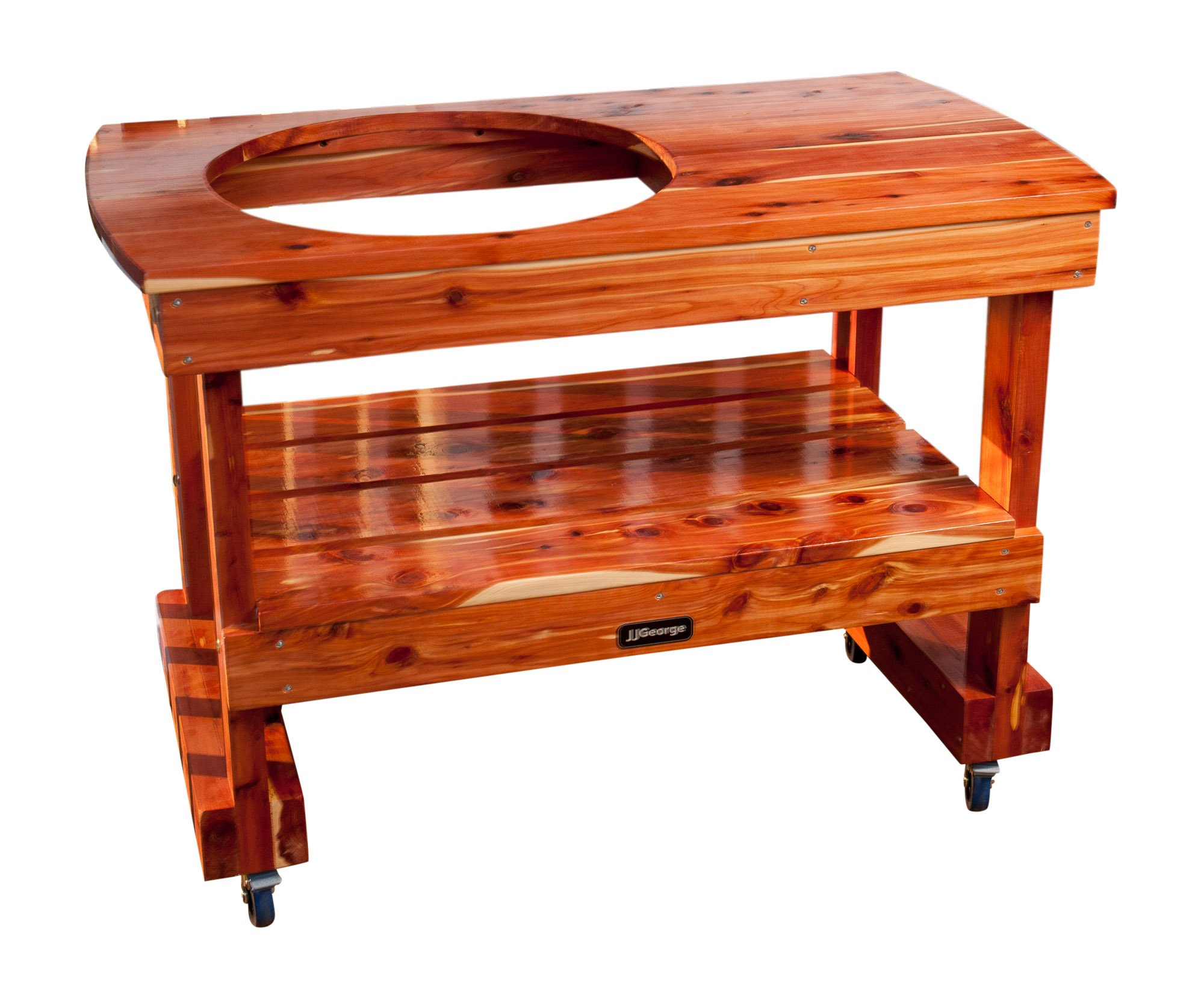 JJGeorge Big Green Egg Table (Compact Table for Large Green Egg) Table Cover Included by JJGeorge