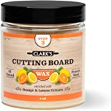 CLARK'S Cutting Board Finish Wax (6oz) | Enriched with Lemon & Orange Oils | Made with Natural Beeswax and Carnauba Wax | Butcher Block Wax