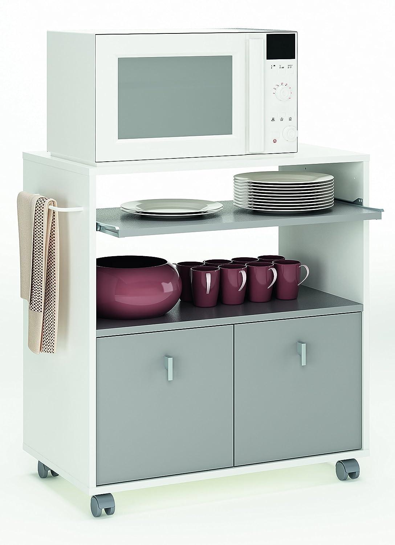 Küchenwagen küchentrolley onyx 716 weiß grau holz rollwagen ...