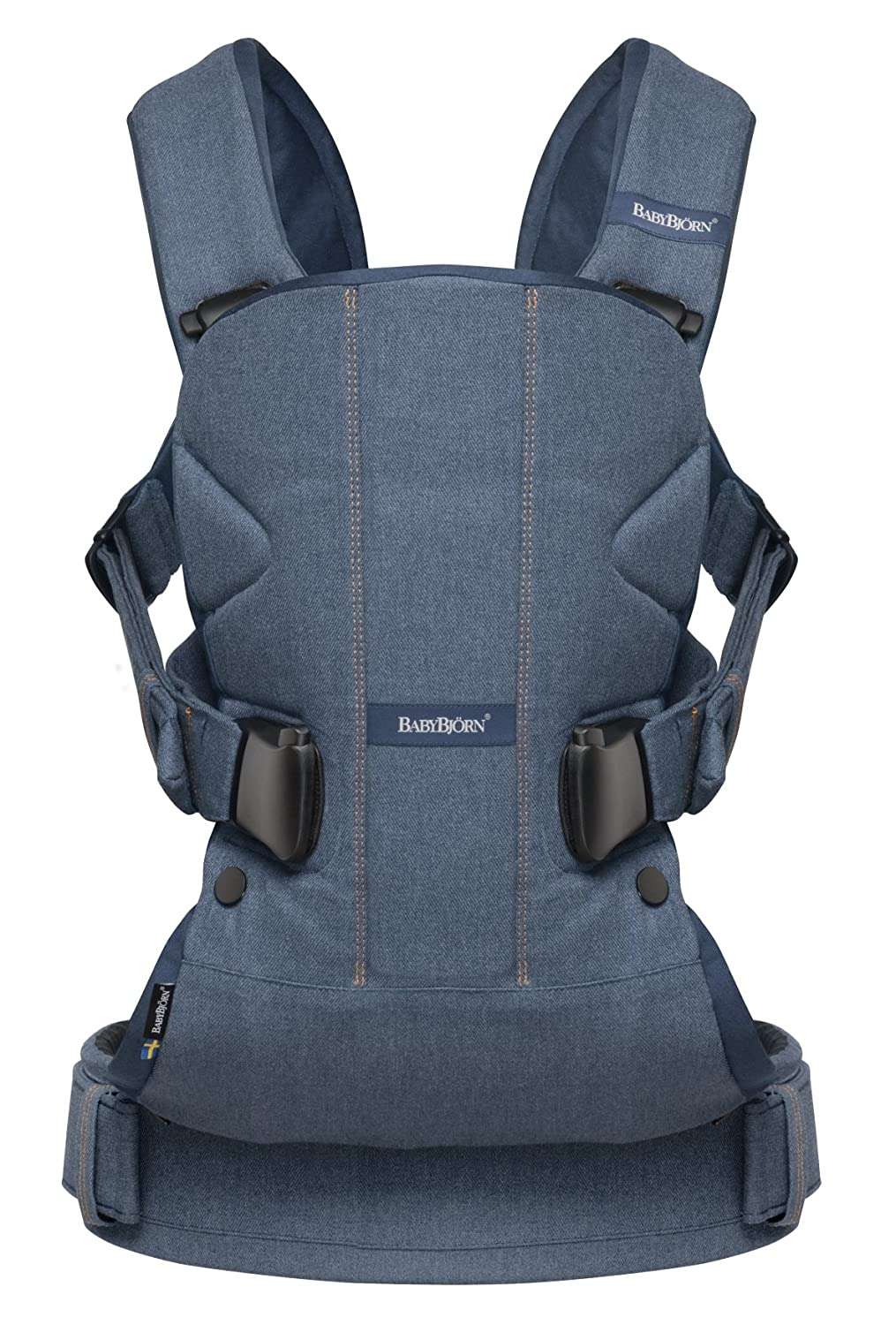 BABYBJORN Baby Carrier One - Denim Gray, Cotton 093094US