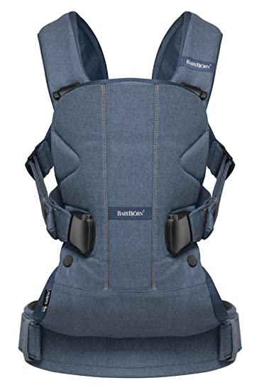 b356058678f Amazon.com   BABYBJORN Baby Carrier One - Classic Denim Midnight Blue