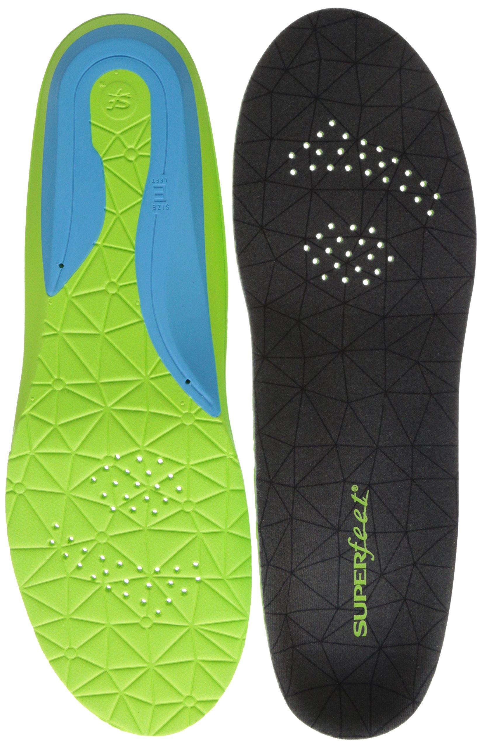 Superfeet Flexmax Athletic Comfort Shoe Insoles, Emerald, Large/10.5-12 Women's/9.5-11 Men's M US