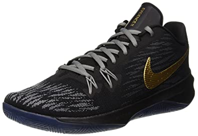 check out 52753 94427 Nike Zoom Evidence II Chaussures de Basketball Homme, Noir (BlackMetallic  Gold