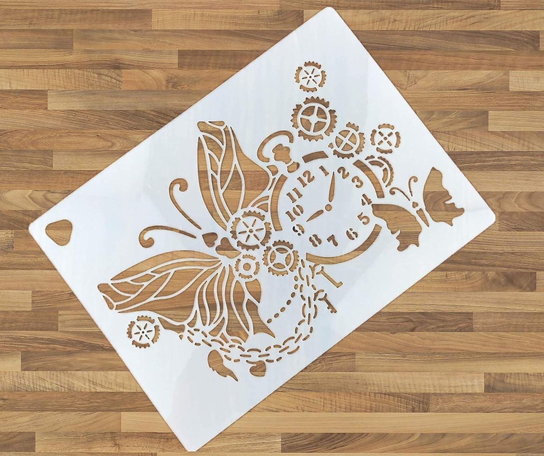 12Pcs DIY Layering Stencil Embossing Scrapbooking Craft Wall Painting Template