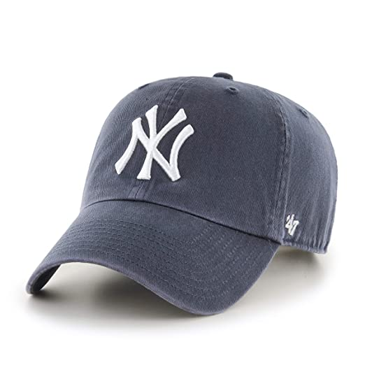 02bdc539f6fe8 Amazon.com   47 Brand New York Yankees Clean Up MLB Dad Hat Cap Blue ...