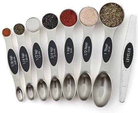 Amazon.com: Spring Chef Juego de cucharas magnéticas de ...