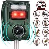 RIVENNA Dog Repeller Ultrasonic, Solar Powered Waterproof Outdoor Animal Chase, 5 Mode Adjustable & USB Charging, Pets…