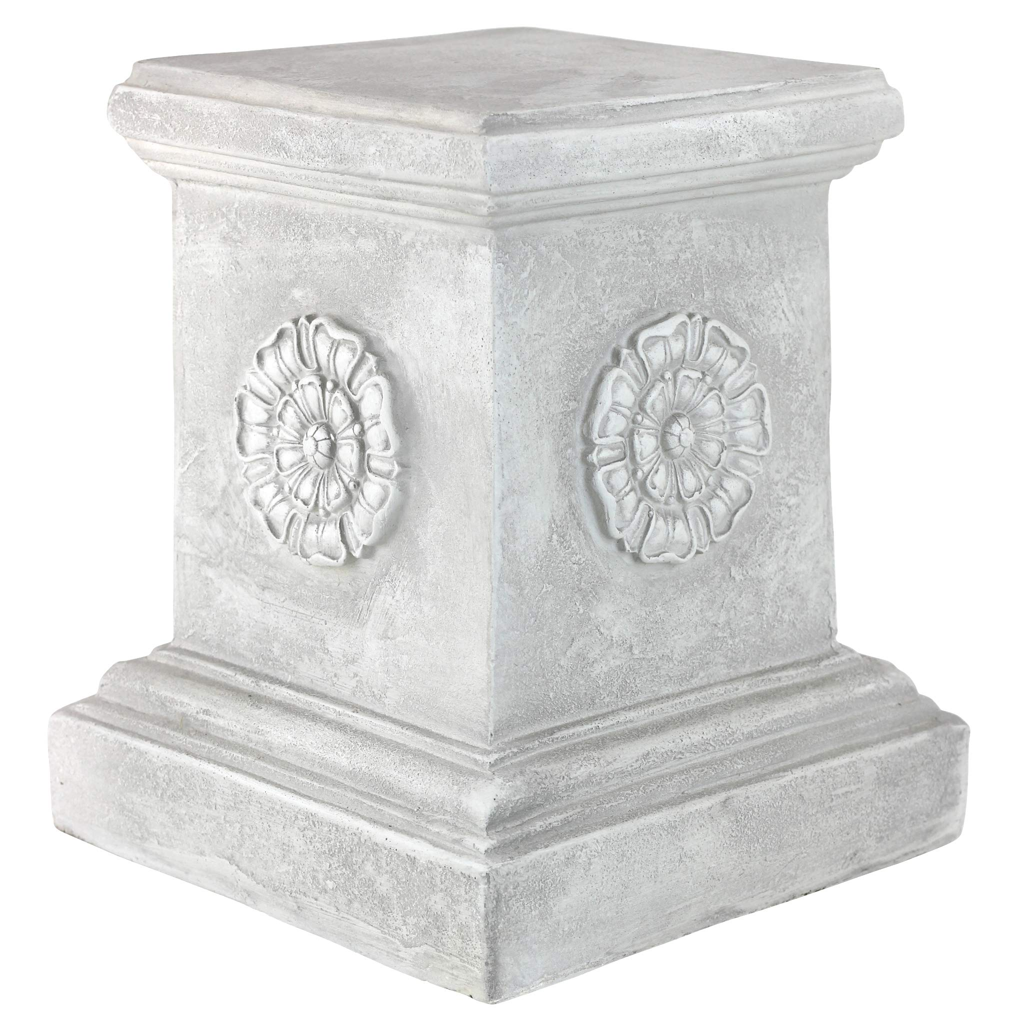 Design Toscano English Rosette Sculptural Garden Plinth Base Riser, Large 13 Inch, Polyresin, Antique Stone by Design Toscano (Image #2)