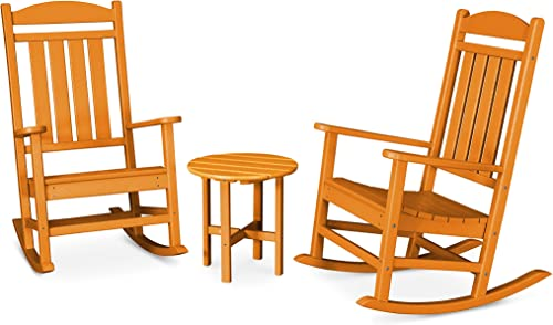POLYWOOD PWS109-1-TA Presidential 3-Piece Rocker Rocking Chair Set