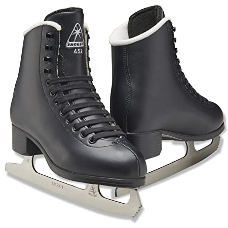 Jackson Ultima Glacier Figure Ice Skates for Women, Girls, Men, Boys in Black and White Colors