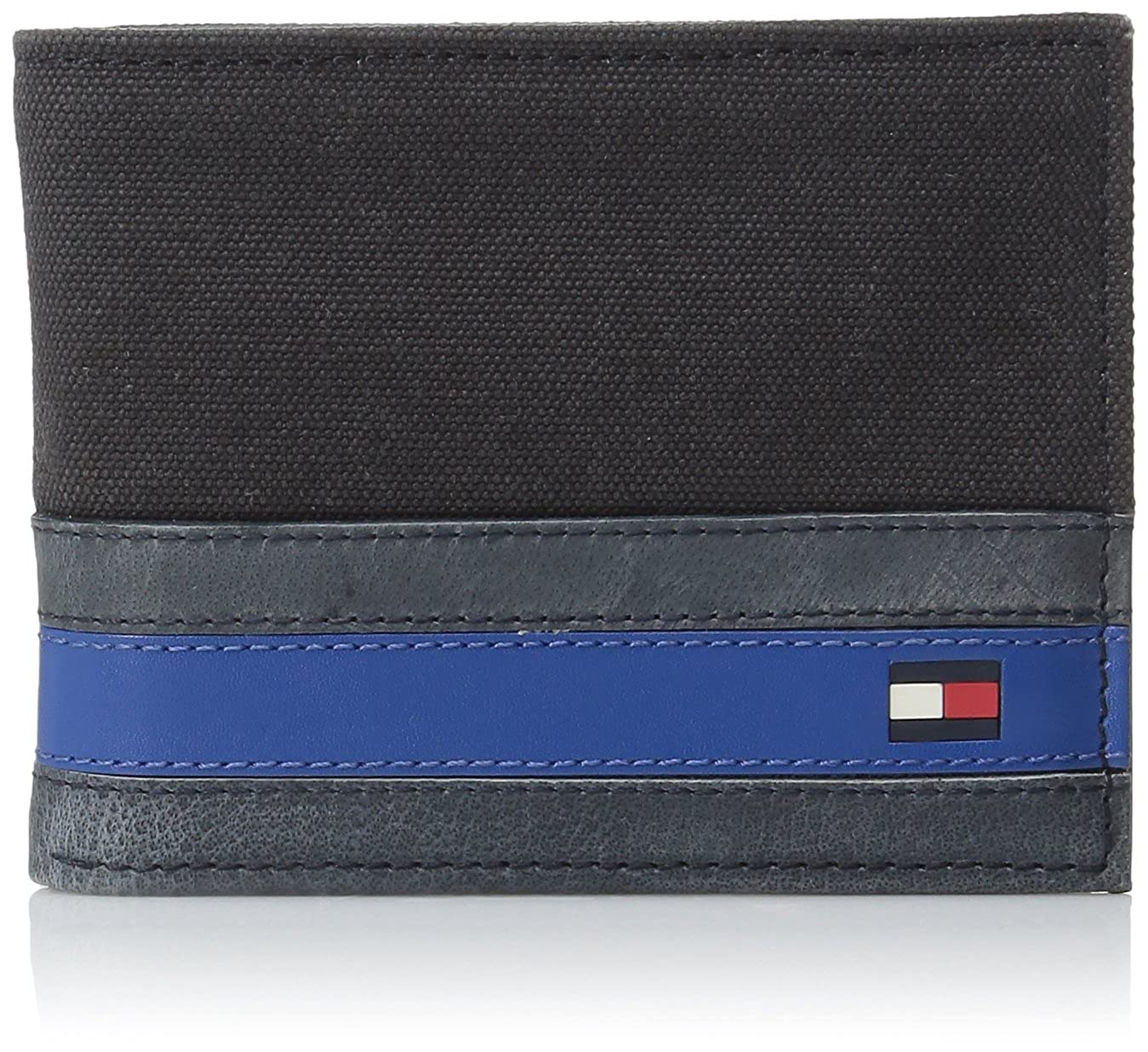 d6bfb8bc70 Tommy Hilfiger Wallets for Men - Slim Thin Smart Multipurpose Leather  Bifold Passcase with Removable Flipout Card Holder, Exeter Black at Amazon  Men's ...
