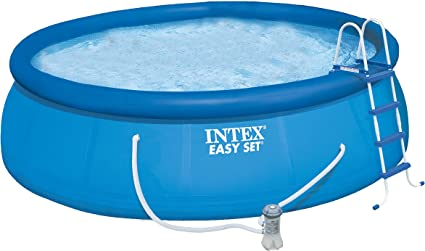 INTEX 28168GN - Piscina (Piscina Hinchable, Círculo, 14141 L, Azul ...