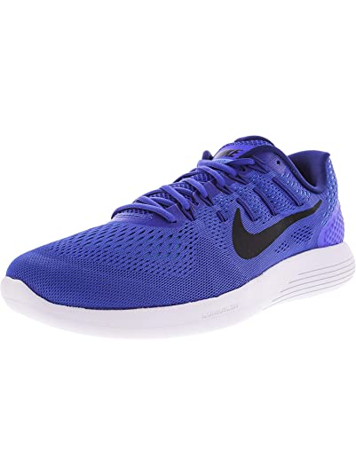 new product db10e 59a64 NIKE Men s Lunarglide 8 Racer Blue Black AA8676-400 Running Shoe (6.5 D