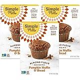 Simple Mills Almond Flour Mix, Pumpkin Muffin & Bread, 9 oz, 3 count
