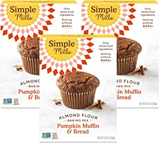 product image for Simple Mills Almond Flour Baking Mix, Gluten Free Pumpkin Bread Mix, Muffin pan ready, Made with whole foods, 3 Count (Packaging May Vary)