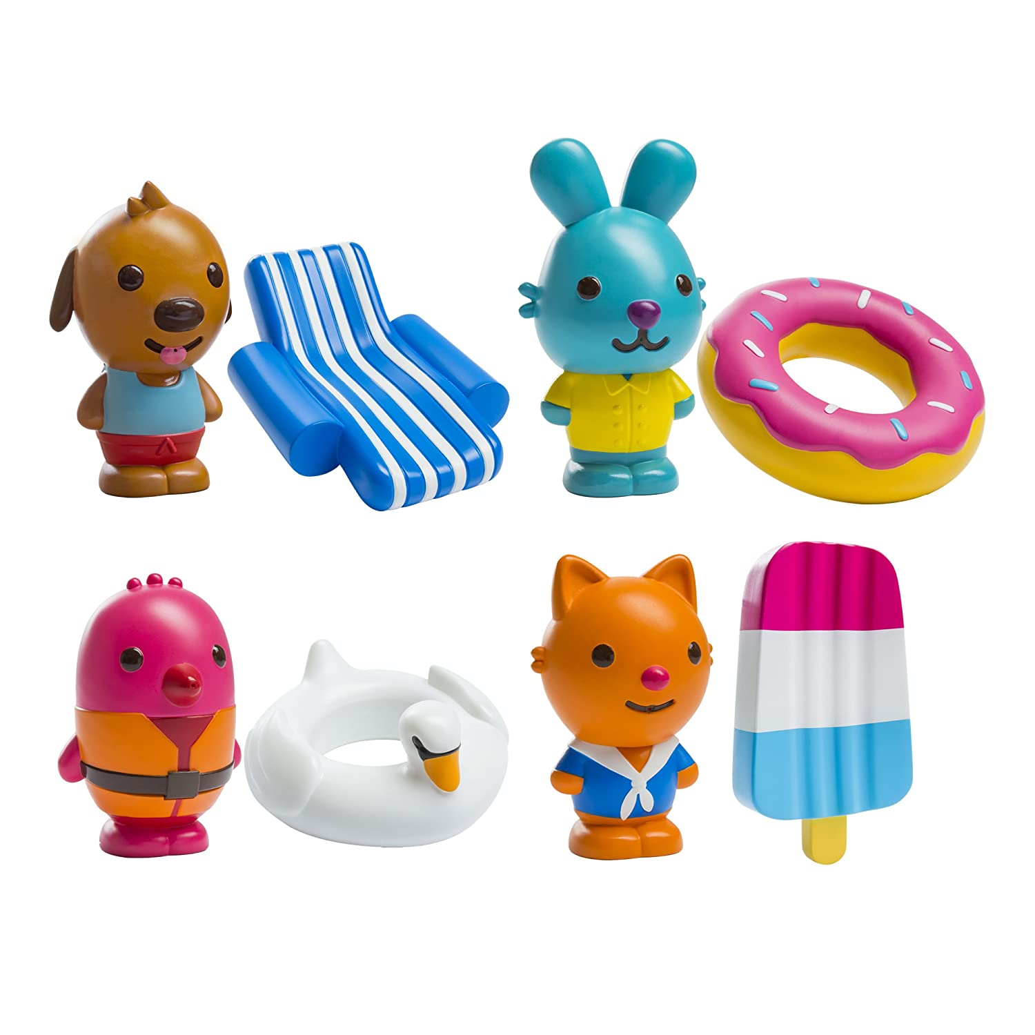 Sago Mini - BPA and Mold Free , Easy Clean Bath Squirters and Floaties - Gift Pack 6041217