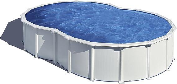 Gre KITPROV6270 Varadero - Piscina Elevada con Forma de Ocho, Aspecto Acero Blanco, 640 x 390 x 120 cm: Amazon.es: Deportes y aire libre