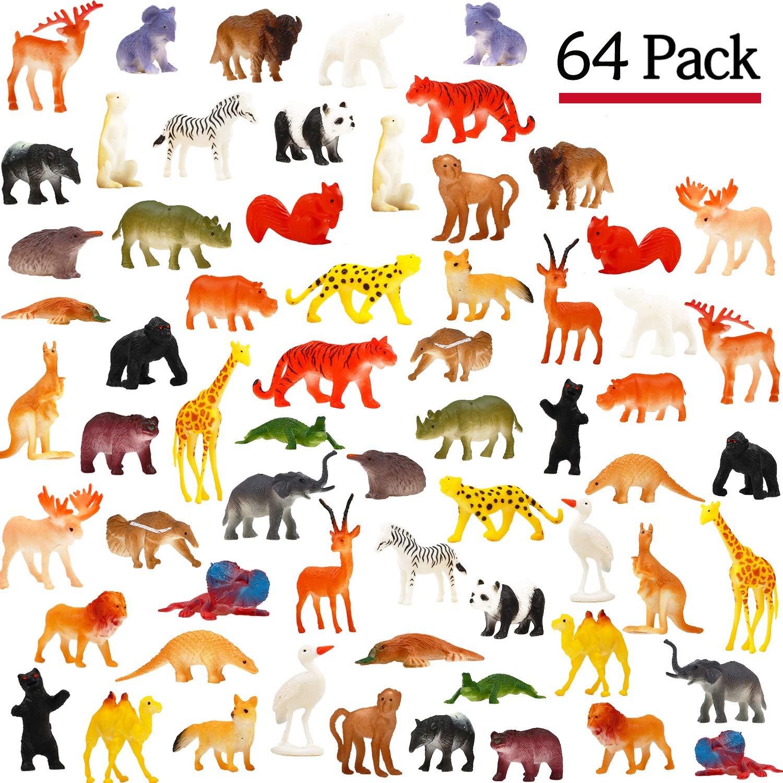 NEW 30 PCS TOYS SET NORTH AMERICAN ANIMALS WILDLIFE EDUCATIONAL BATH TOY SAFARI